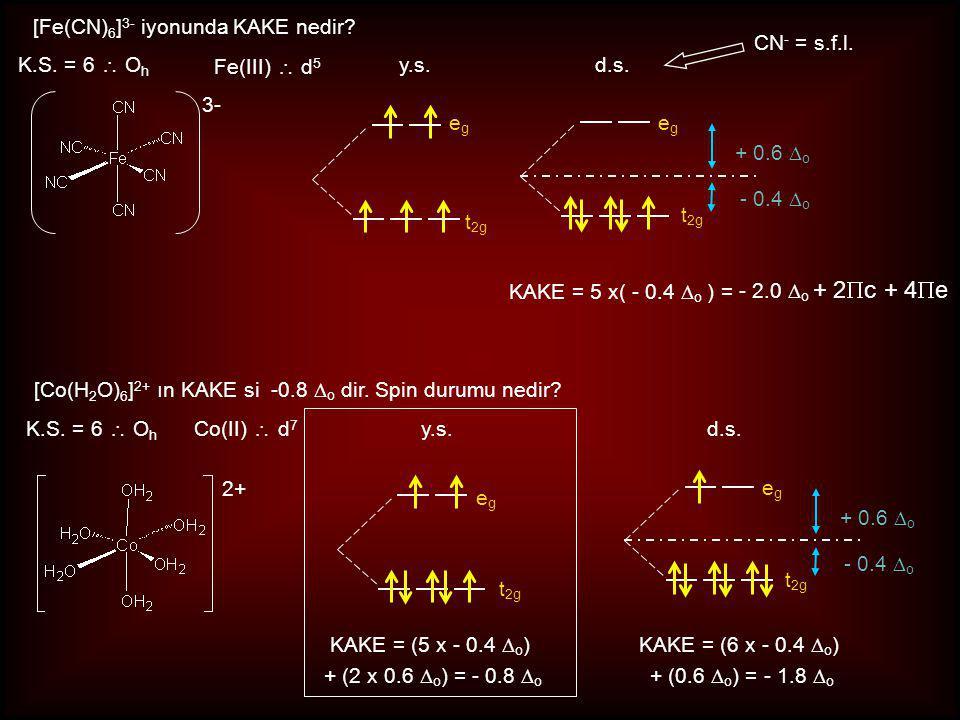 [Fe(CN)6]3- iyonunda KAKE nedir